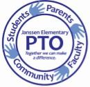 Janssen Elementary School PTO Logo. Students, Parents, Community, Faculty. Together we can make a difference