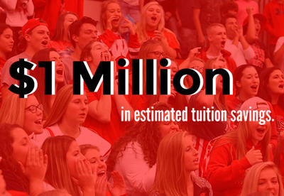 Students Save $1 Million in Estimated Tuition Savings