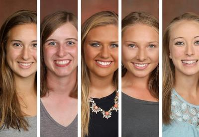 Five Members of Girls Golf Team Recognized for Academic Achievement