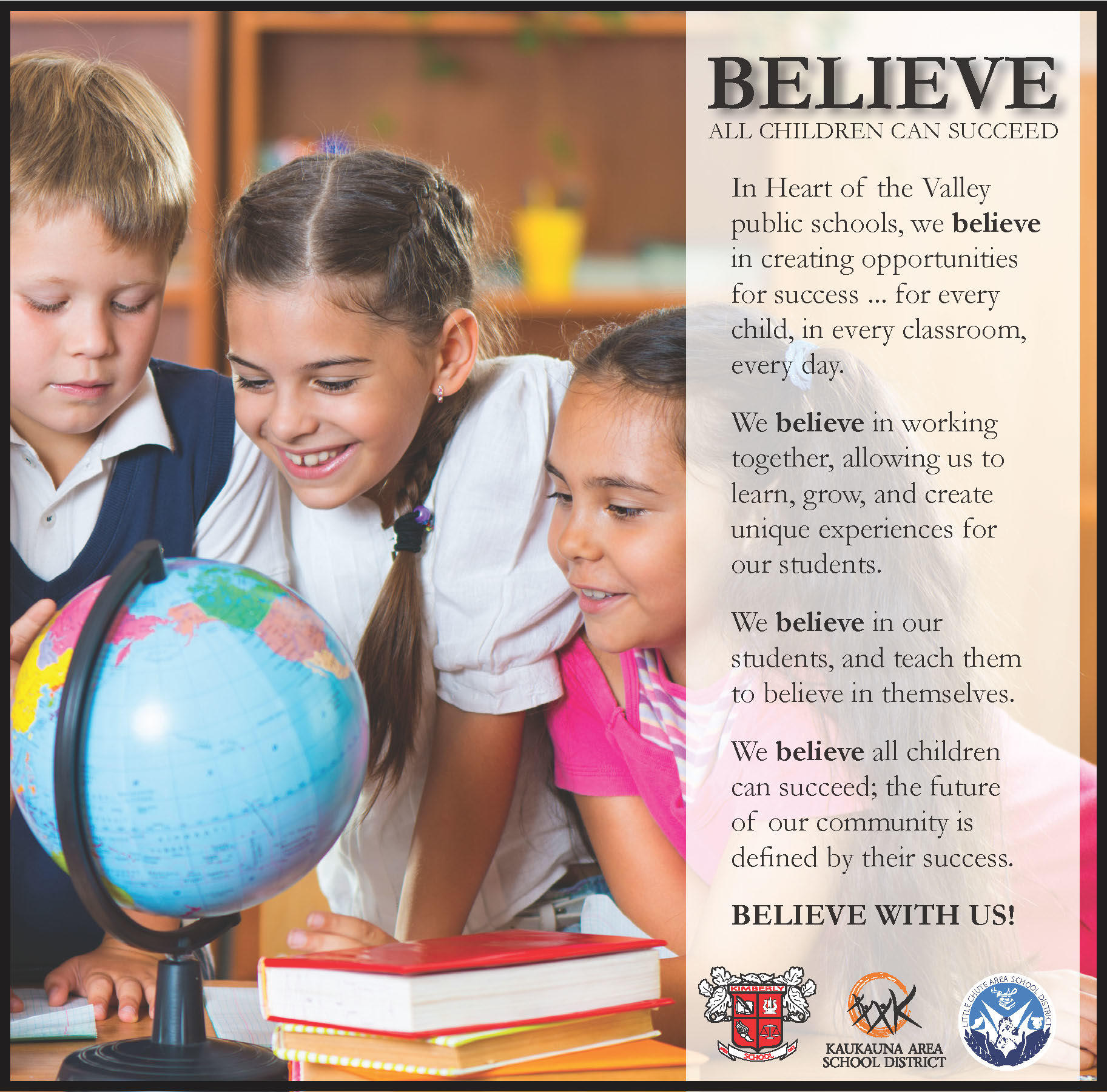 Believe all children can succeed ad