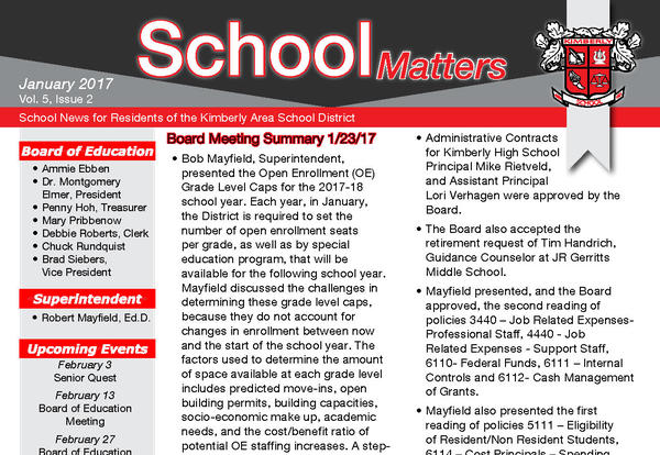 Sign Up For Our School Matters Newsletter