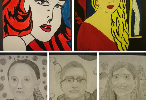 Five JRG Students Art Displayed Regionally, Three Had Artwork Selected for Display at State Capitol