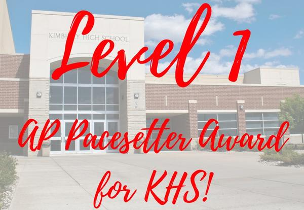 KHS Receives Level 1 AP Pacetter Award