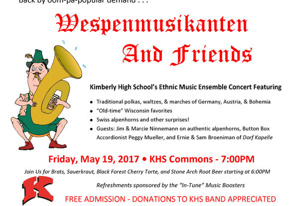 Wespenmusikanten And Friends - Kimberly High School's Ethnic Music Ensemble Concert May 19
