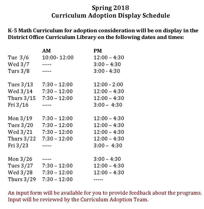 New K-5 Math Curriculum Adoption Underway | Lincoln Elementary School