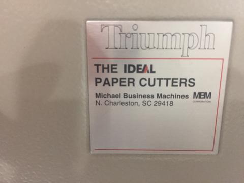 IDEAL PAPER CUTTER-1