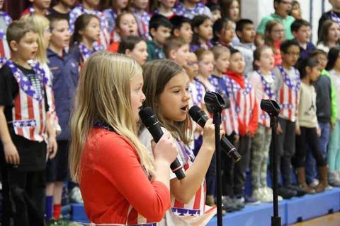 4th grade choir s-Layla Pickard and Allie Thompson
