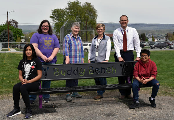 Buddy Benches are Making Playtime Less Lonely at Columbia Elementary