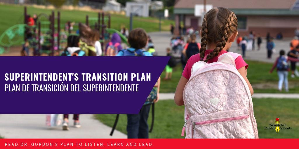 superintendent's transition plan