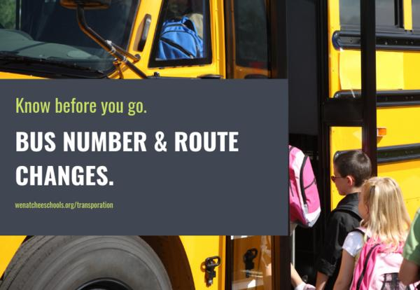 Important Bus Number and Route Change Information
