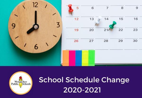 Schedule Change Ahead for 2020-2021 School Year