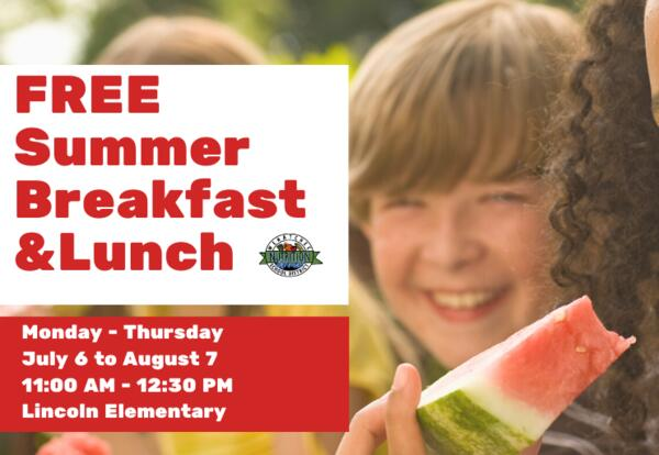 Free Summer Meals Start July 6
