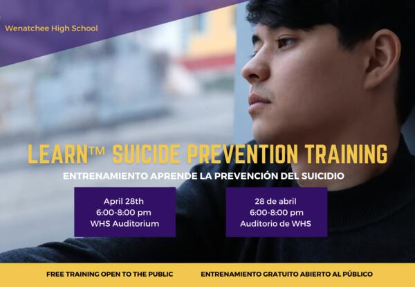 LEARN ™ Suicide Prevention Training April 28 at WHS
