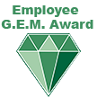 Employee G.E.M. award logo and link