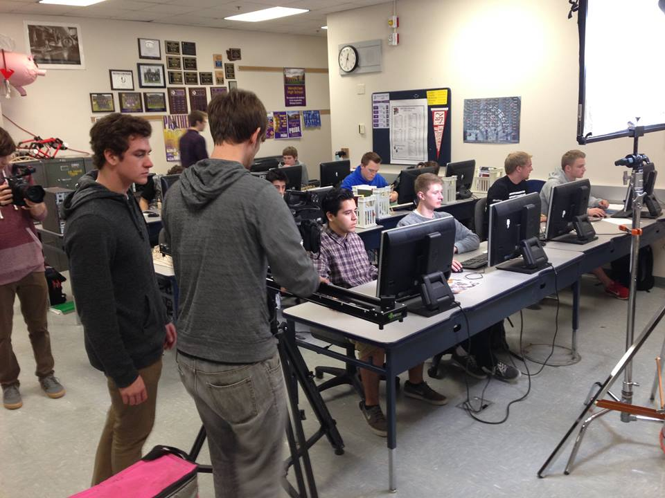 Student interns Filming Dougs engineering class