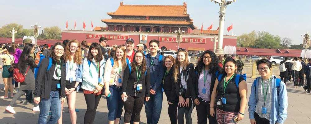 WHS Students in Tiananmen Square