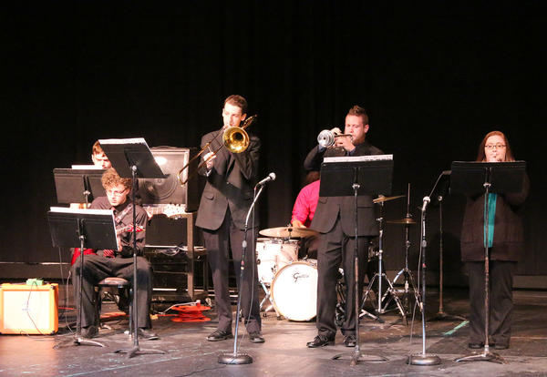 The CCC Jazz Ensemble Performing in a Concert From the Fall 2017 Semester.