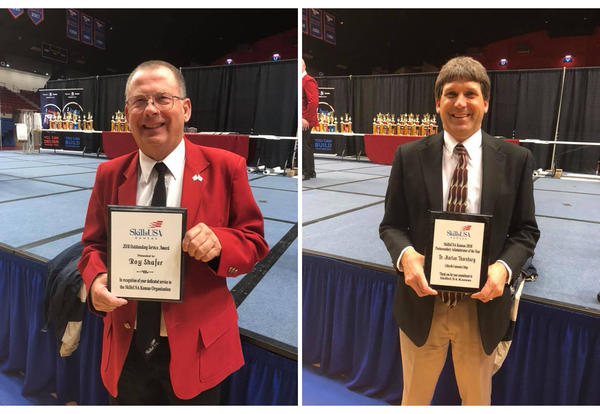 Shafer and Thornburg Recognized at SkillsUSA