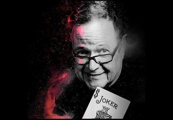 Pete Walterscheid, artistic photo illustration holder a joker's card.