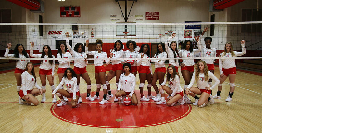 2018 Coffeyville Red Raven Volleyball Team Photo