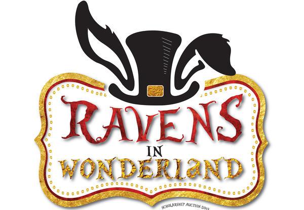 2019 CCC Foundation Auction Logo - Ravens in Wonderland