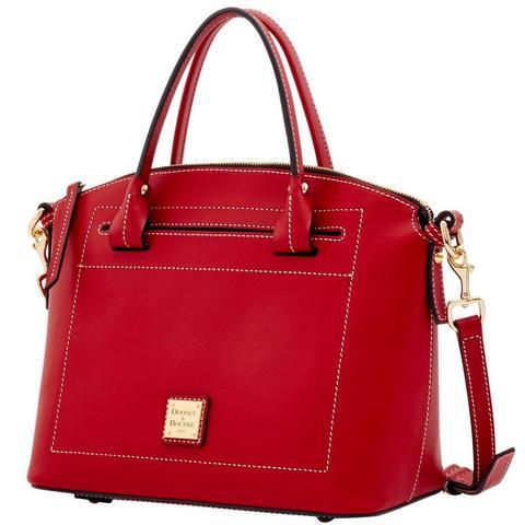Stock photo of a red Dooney and Bourke handbag