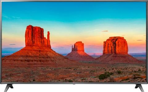 Stock photo of a large, flat screen LG TV