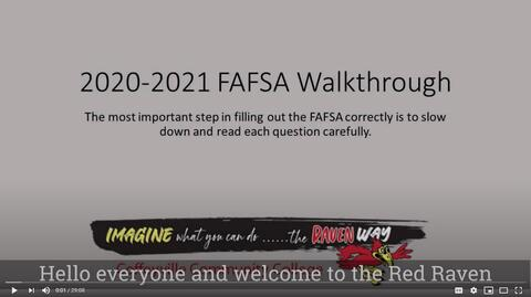 Screenshot of Opening Scene of the FAFSA How To Video