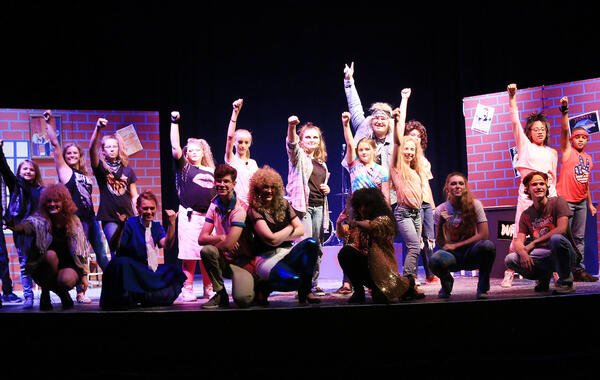 Performance Picture from the Spring 2020 Rock of Ages Musical