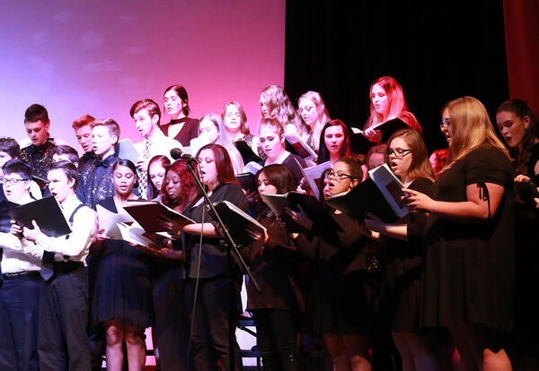 Wide Angle View of CCC Choir in Concert From the Fall 2019 Semester