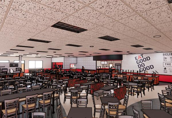 Illustrative Rendering of CCC Cafeteria