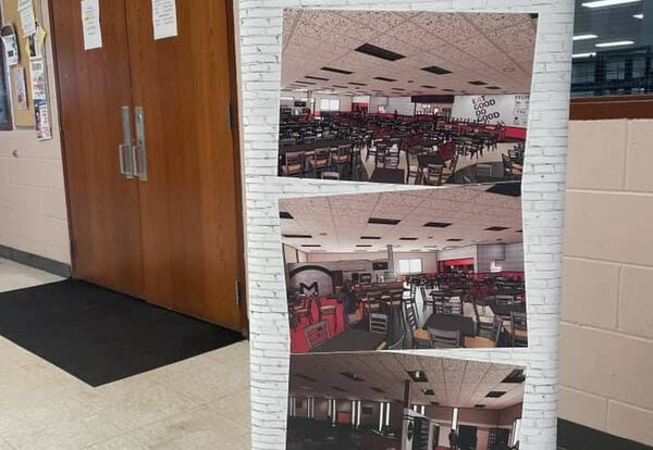 Banner showing Illustrative Rendering of CCC Cafeteria