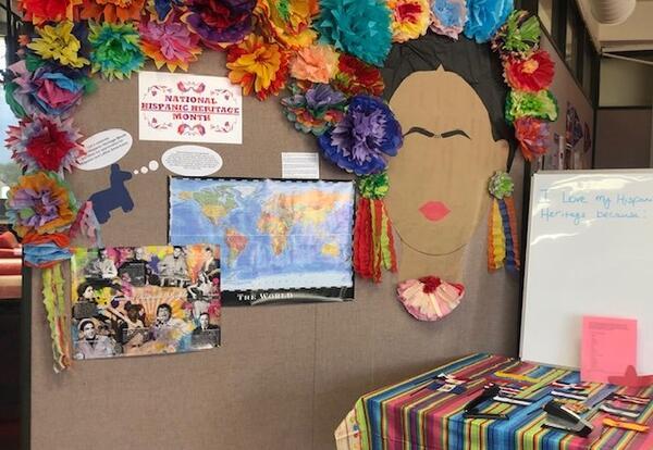 SSC Hispanic Heritage Month display