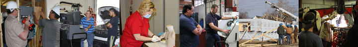 Variety of Photos Showing Students at Work in Coffeyville Technical Campus Programs