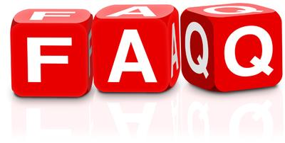 FAQ White Letters on Red Dice