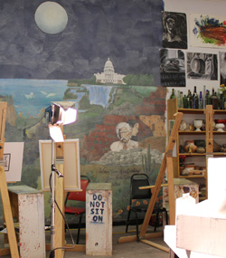 Interior View of Painting Studio