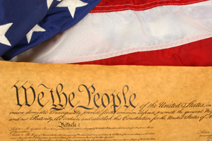 U.S. Constitution Stock Photo