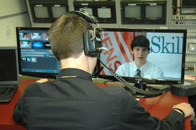Students Broadcasting Live News Show