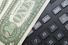 Money on Calculator
