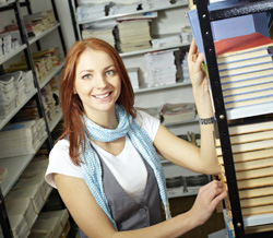 Student in Bookstore Stock Photo