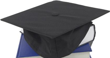 Graduation Cap on Stack of Books Stock Photo
