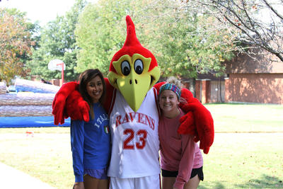 Redd T Raven With Students