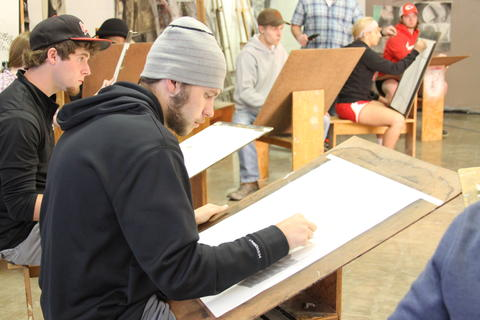 Drawing Class Students