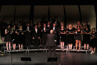 Concert Choir on Stage for Concert