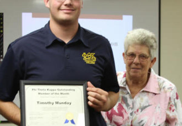 Tim Munday Named October Phi Theta Kappa Member of the Month
