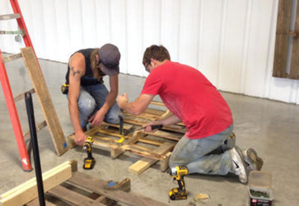 CCC Construction Students Helping Museum