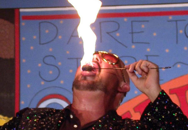 Humanities Project: Fire Eating Magician to Take Center Stage at CCC on Feb. 28