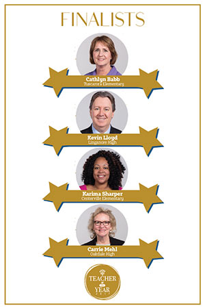 photo of the four teacher of the year finalists