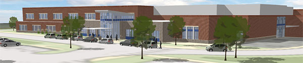 Urbana Elementary School architect rendition