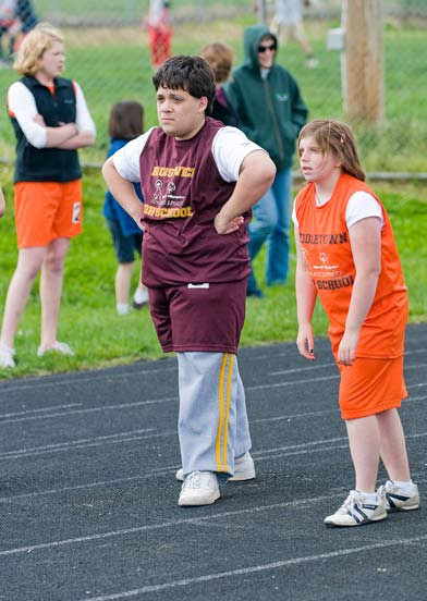 photo of children participating in unified sports